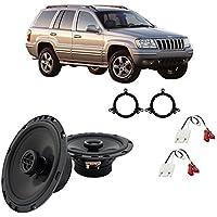 Fits Jeep Grand Cherokee 1996-2004 Rear Door Factory Replacement Harmony HA-R65 Speakers