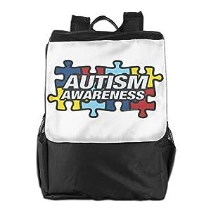 Rongyingst Autism Awareness Messenger Bag Shoulder Backpack Travel Hiking Rucksack For Womens Mens Boys Girls School Bookbags One Size