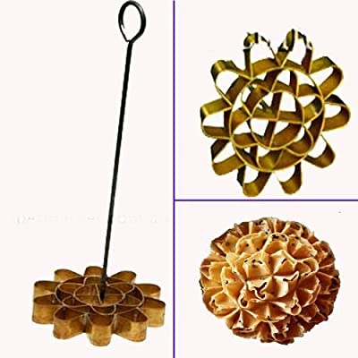 Biggest Dok Jok Brass Mold Stylist Thai Sunflower Cookies;Diameter 10.5 cm