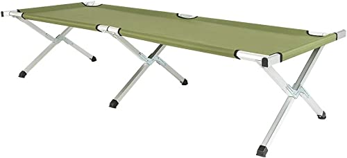 VINGLI Folding Camping Cot,Outdoor Portable Camp Bed, Sleeping Cots with Carry Bag Green