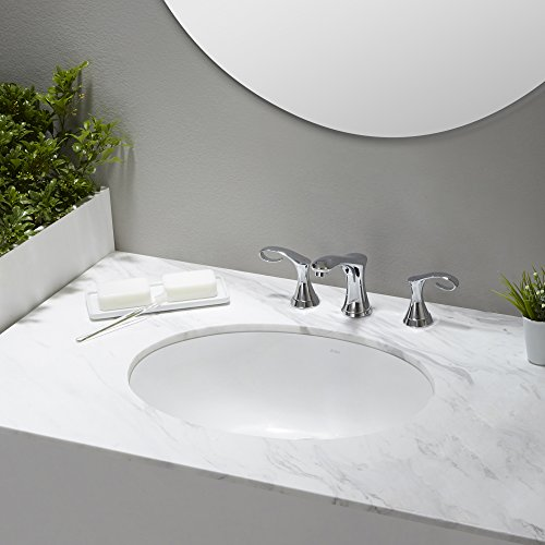 KRAUS Elavo 17 Inch Oval Undermount Porcelain Ceramic Bathroom Sink in White with Overflow, KCU-211 by Kraus (Image #11)
