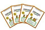 Tiger Math Level B set for Grade 1 (Self-guided Math Tutoring Series - Elementary Math Workbook)