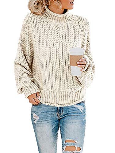 Women Sweaters Oversized Turtleneck Long Sleeve Loose Fit Pullover Jumper Tops