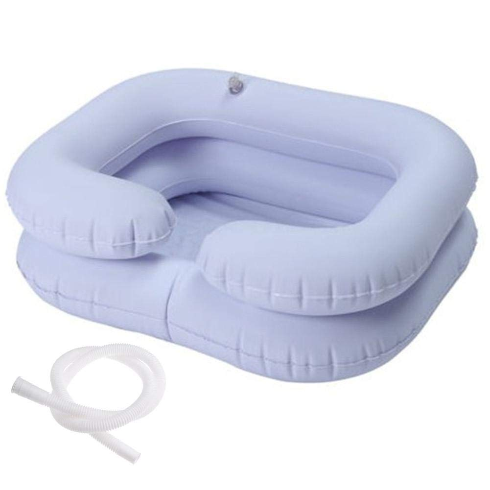 Purelemon Inflatable Shampoo Basins, Bedside Shower System for Disabled& Elderly Bed Easy, Pregnancy, Bedridden or Post-Surgical Patient - White by Purelemon