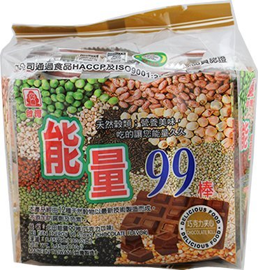 能量棒 All natural Pei Tien Energy 99 rice cake roll- Egg York Chocolate Flavor 6.35oz x 4pack by Pei Tien