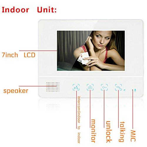 MOUNTAINONE 2 Apartment/Family Video Door Phone Intercom System 1 Doorbell Camera with 2 button 2 Monitor Waterproof SY811WMC12 by MOUNTAINONE (Image #2)
