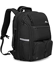 Fresion 45L Carry on Travel Laptop Backpack Mens - Water Resistant Business Travelling Rucksack Women 15.6 Inch, Cabin Backpack Luggage Flight Back Packs with USB Charging Port for Outdoor Sport,Black