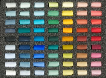 Unison Soft Pastels : Set of 63 Half Sticks by Unison