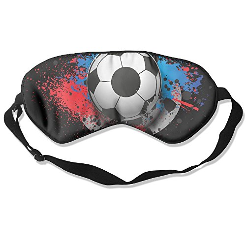 Sleep Mask Soccer Football Paint Eye Cover Blackout Eye Masks,Soothing Puffy Eyes,Dark Circles,Stress,Breathable Blindfold For Women Men by MB32