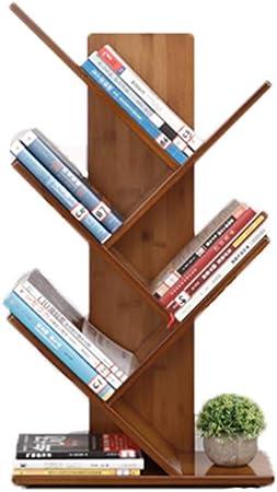 ZXY árbol en Forma de Madera Estante para Libros,3-5tier Espesado Estante Abierto Repisa Escalera Marco Decorativo Multifuncional Organizador de Almacenamiento -A 44x20x80cm(17x8x31inch): Amazon.es: Hogar