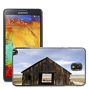 Etui Housse Coque de Protection Cover Rigide pour // M00150309 Granero Viejo Una través de camiones // Samsung Galaxy Note 3 III N9000 N9002 N9005