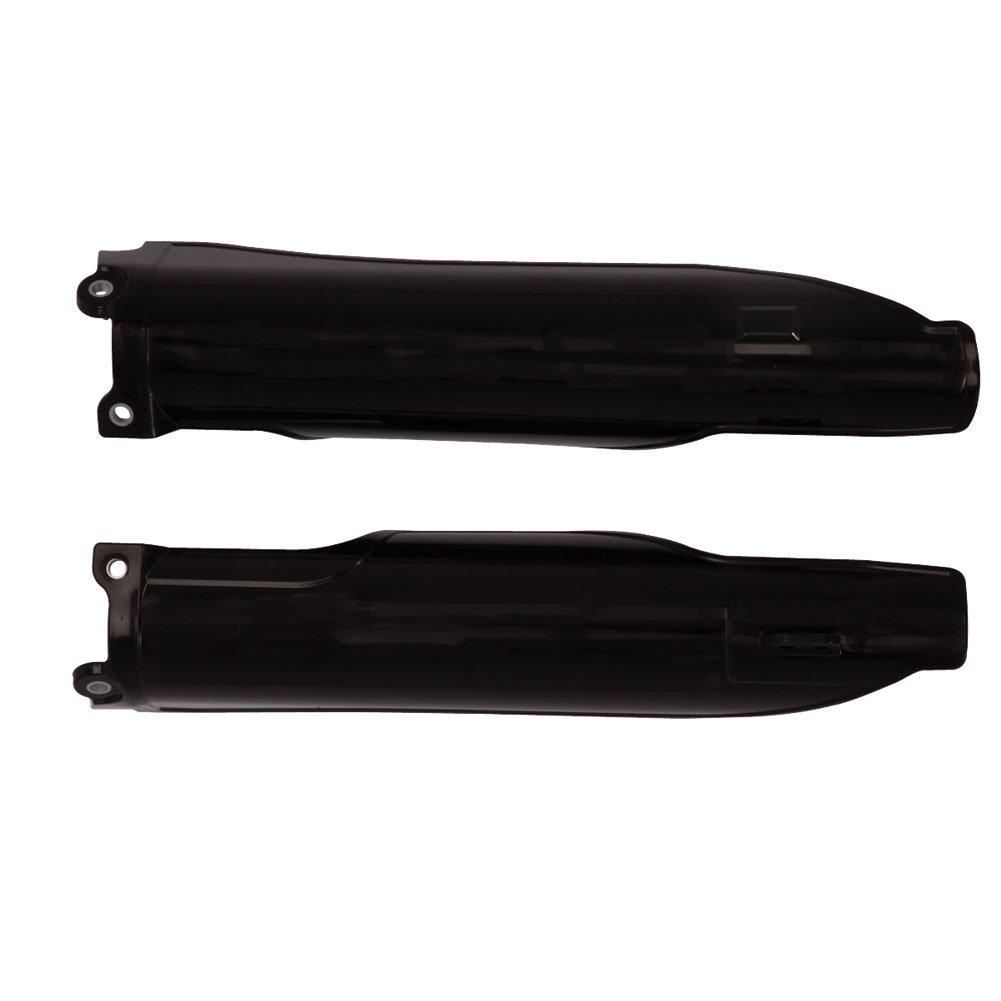 Acerbis Lower Fork Cover Set Black - Fits: Yamaha YZ250FX 2015-2018