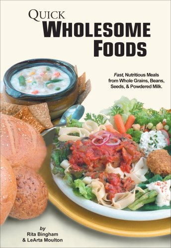 The Quick Wholesome Foods DVD with 28 page Recipe Booklet shows you how to make delicious heart healthy meals from wheat, grains, beans and more using your food storage.