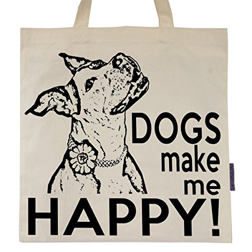 Dogs Make Me Happy - Eco Friendly Tote Bag