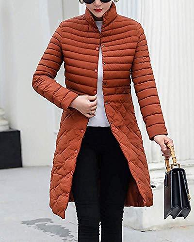 Donna Parka Leggera Women L color Calda Imbottito Size Da Caramel Giacca Caramel Calda Jacket Home Casual Capispalla 0wrqXxZEq