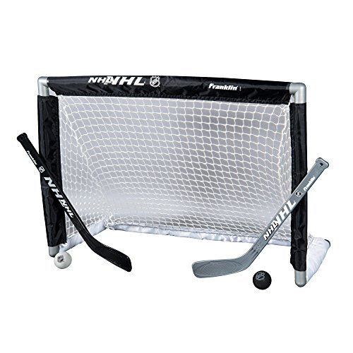 Hockey Set Soft (Franklin Sports Mini Hockey Goal Set - NHL - 28 x 20 inches)