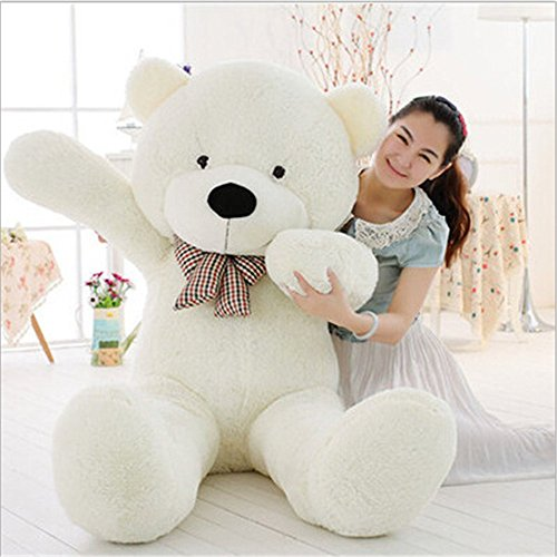 MorisMos 47 inch Big Cute Plush Teddy Bear Huge Plush Animals Teddy Bear for Girl Children Girlfriend Valentine's Day White 1.2M