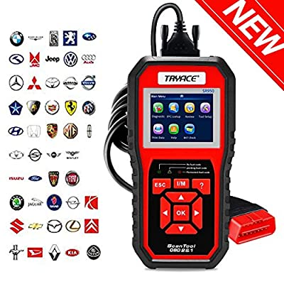 TryAce OBD2 Scanner,OBDII Auto Diagnostic Code Scanner Universal Vehicle Engine O2 Sensor Systems Scanner OBD2 EOBD Scanners Tool Check Engine Light Code Reader for all OBD II Protocol Cars Since 1996 by TryAce