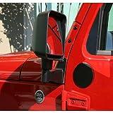 Rugged Ridge 11025.04 Black Mirror Relocation Bracket - Pair for 2007-2018 Jeep Wrangler JK
