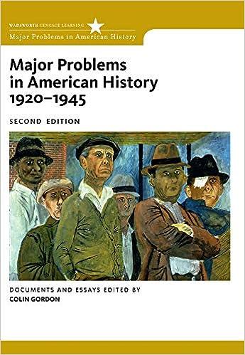 Volume in 2 pdf major problems american history