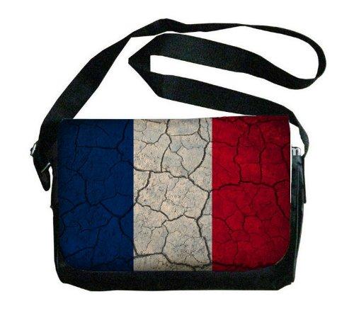 Mayotte Flag Crackled Design Messenger Bag