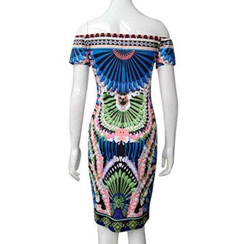 Robe Femmes, Fulltime® Cocktail Mode féminine manches Sexy Party Soirée Mini-robe
