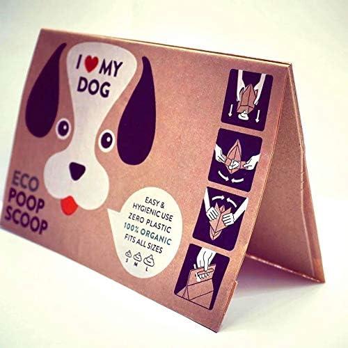 EcoPoopScoop Ökologische Hundekotbeutel aus Papier und Pappe. Hergestellt aus 75% Recyclingmaterial und Kraftpapier - 100% biologisch abbaubar
