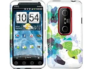 Lilies Vine Crystal 2D Hard Skin Case Cover for HTC Evo 3D 4G Sprint
