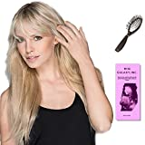Hair In (Human Hair) by Ellen Wille, Loop Brush, & Wig Galaxy Hair Loss booklet (Bundle - 3 Items), Color Chosen: Dark Blonde