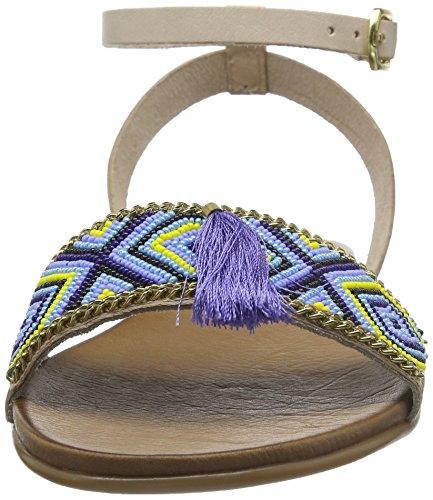 Inuovo 6391 - sandalias abiertas de cuero mujer Azul (Royal Blue)