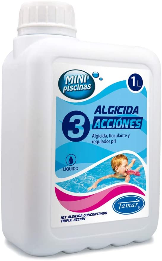 LOLAhome Algicida liquido para Piscinas (1 litro - 3 Funciones)