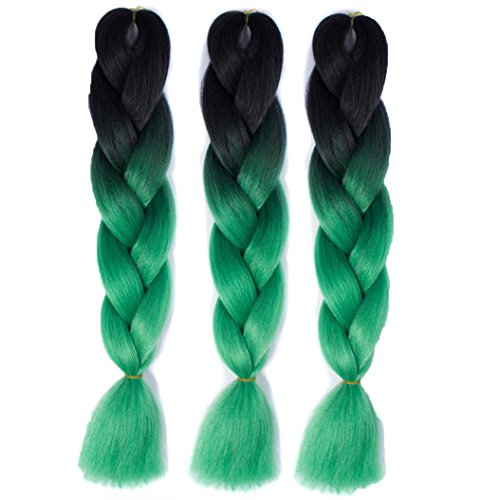 [DEESEE(TM) 1PC New Womens Cosplay Costume Gradient Long Braid Wavy Party Wigs (L)] (Making Waves Sailor Costume)