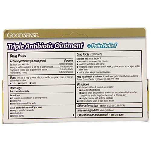 GoodSense Maximum Strength Triple Antibiotic Ointment plus