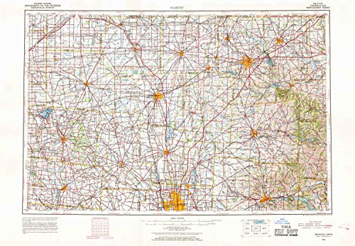 YellowMaps Marion OH topo map, 1:250000 Scale, 1 X for sale  Delivered anywhere in USA