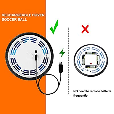 Kids Toys Hover Soccer Ball Set with 2 Goals, Rechargeable LED Air Soccer, Indoor Soccer Toys with Foam Bumper, Floating Football for 3,4,5,6 -14 Year Old Boys Girls, Including an Inflatable Ball: Sports & Outdoors