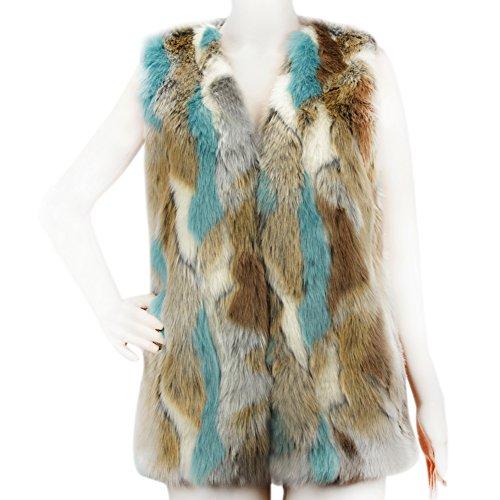 Faux Rabbit Fur Coat - 3