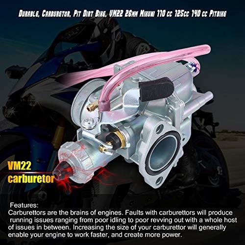 Argento Durevole Carburatore Motore professionale Carburatore Pit Dirt Bike VM22 26mm Mikuni Carburatore Carb 110cc 125cc 140cc Pitbike