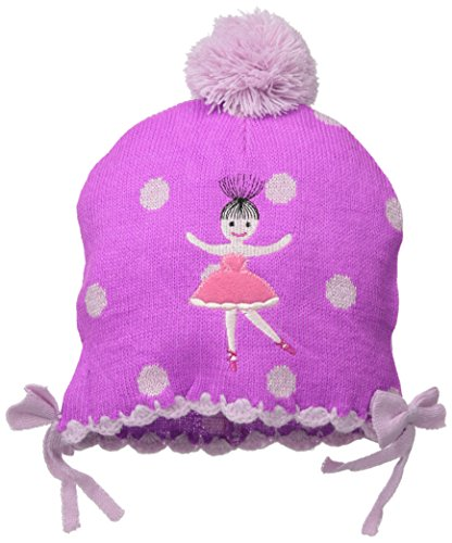 Kidorable Pink Ballerina Soft Acrylic Hat for Girls w/Fun Dancer and Polka Dots, One Size Fits Most (Boots Snowboarding Girls)