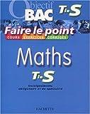 Faire le point : Maths, terminale S