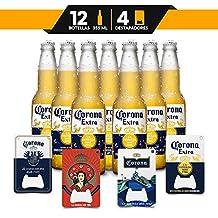 Pack Especial 12 Botellas Corona Extra + 4 Destapadores Coleccionables.