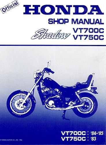 Honda Shadow VT700C, VT750C, 1983-1985, Repair Service Manual - Shadow Vt750c