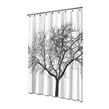 PowerLead Pscr C001 Shower Curtain with Tree Design 100% Waterproof & Eco-Friendly Large Size