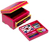 : Melissa & Doug Deluxe Wooden Decorate-Your-Own Jewelry Box