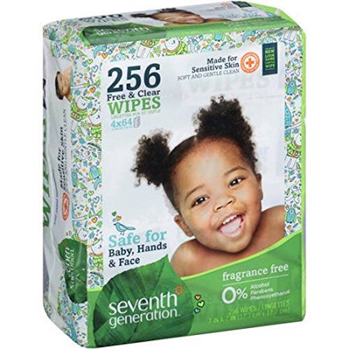 Seventh Generation Free and Clear Baby Wipes 256 Count