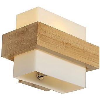 Lampe Murale En Bois Pour Chambre A Coucher Ou Salle De Bain Bois