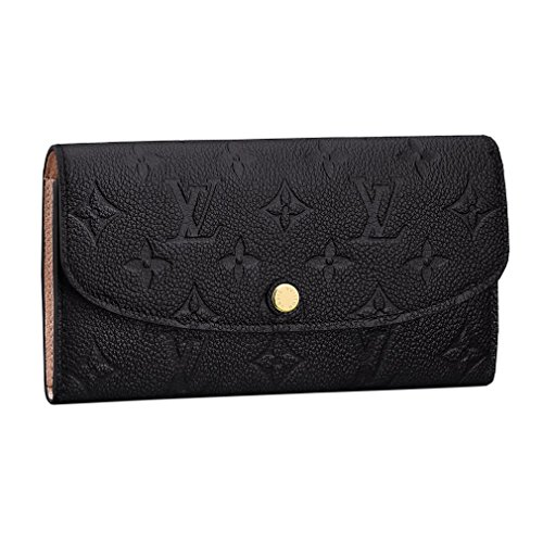 Louis Vuitton Monogram Empreinte Leather Emilie Wallet Noir Article: M62369 - Wallets Louis Ladies Vuitton