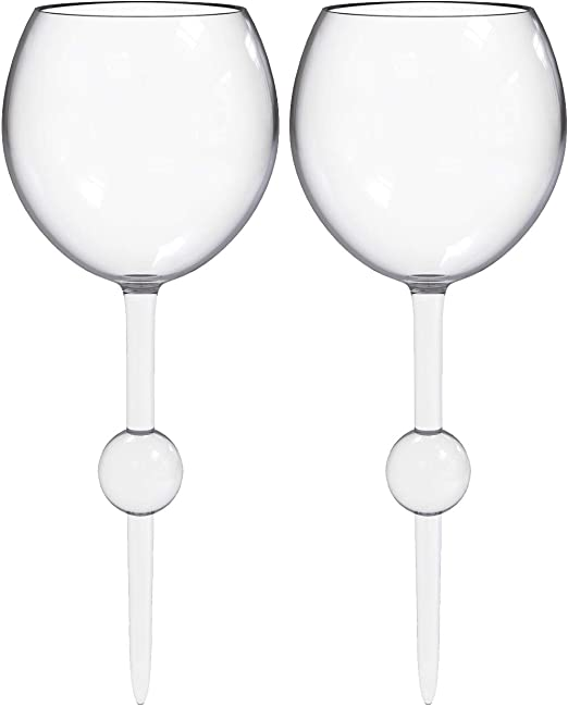 Cocktail Acrylic and Shatterproof Wine Beer Beach Camping and Outdoor Use Crystal Clear Drinking Glasses for Pool 12 Ounce The Beach Glass Original Floating