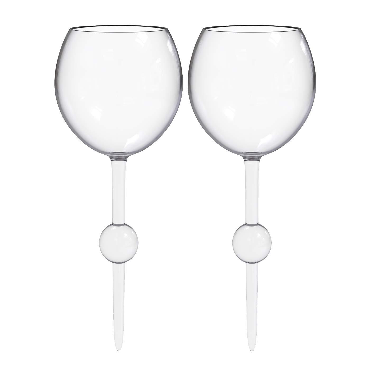 The Beach Glass Acrylic Classic Break-Resistent Seamless Floating Acrylic Wine Glass for Pool, Beach, Park 12-ounce (Crystal Clear, 2 pack)