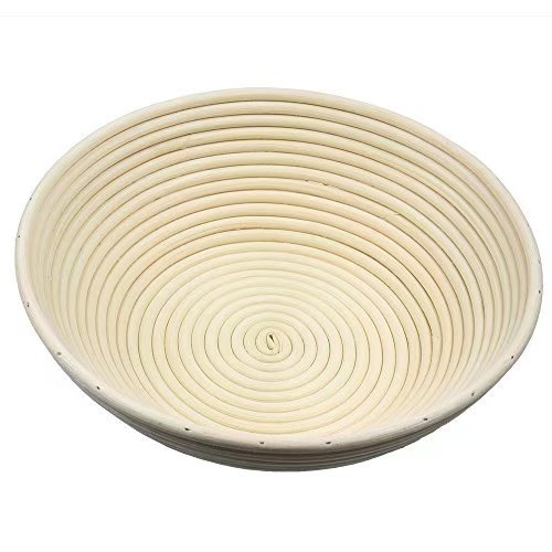 2 pack of 12 Inch Round Brotform Banneton Proofing Baskets Bread Bowl for Baking Dough with Rising Pattern (Bonus Linen Cover) by BabyFoxy (Image #2)