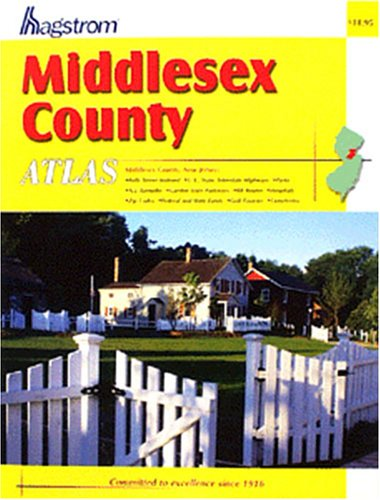 Hagstrom Middlesex County Atlas (New Jersey State Map With Cities And Counties)